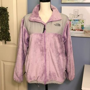The North Face lilac/light gray jacket